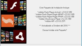 Adobe Flash Player Active X y Plugin (2 en 1) para Windows