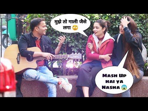 Singing Bhojpuri Song Then Bollywood Mash Up Prank On Delhi Girl | Siddharth Shankar