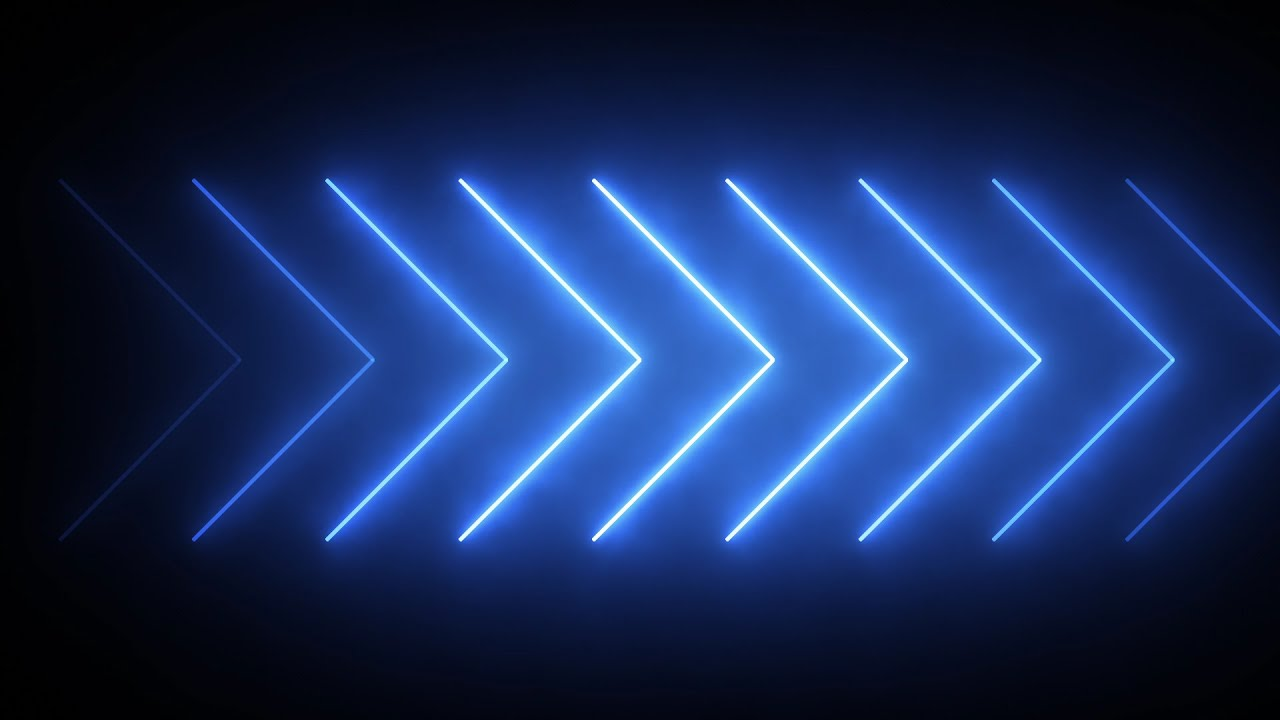 neon arrows - hd video background loop - youtube