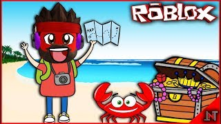 ROBLOX Indonesia #187 Beach Simulator | Finding red crab on the beach