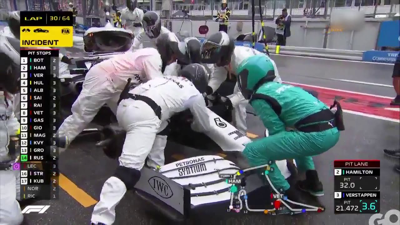 Formula 1 - The best Mercedes pitstop in the 2019 German GP