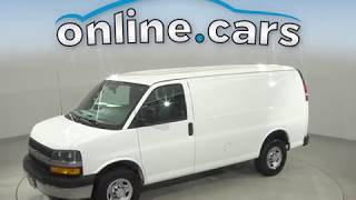 A12975TP Used 2018 Chevrolet Express 2500 Work Van Cargo Van White Test Drive, Review, For Sale