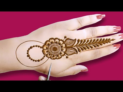 Arabic back hand mehndi design || easy,amazing back hand Ara