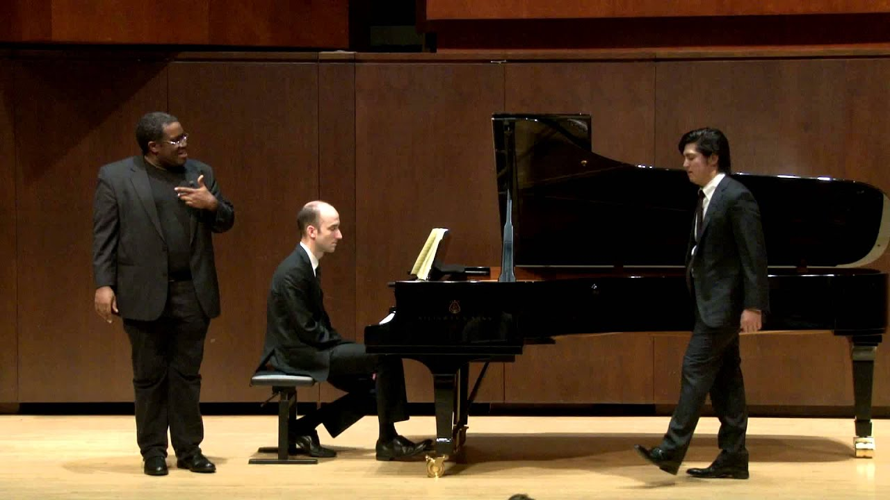 Eric Owens Master Class, May 1, 2014: Takaoki Onishi and Dimitri Dover