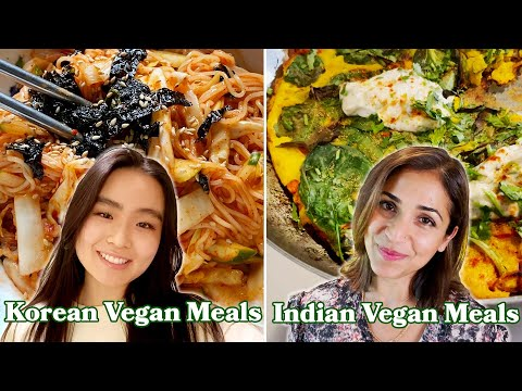 What A Korean, Indian, & American Vegan Eat In A Day
