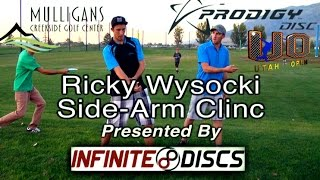disc golf side arm driving technique clinic by ricky wysocki