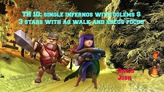 Clash of Clans-TH 10: Single infernos? & 3 stars attack with aq walk #180