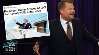 LA Gives President Trump a Protest Fit for Hollywood