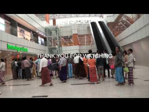 Newly Opened Terminal 1 at Yangon International airport , Myanmar