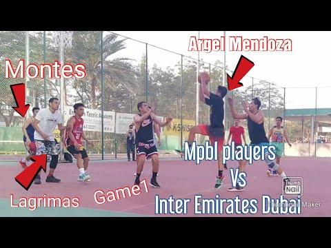 Mpbl players vs  inter Emirates Dubai Game1