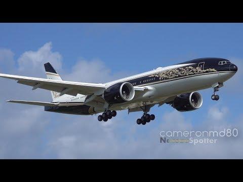 Equatorial Guinea Government Arrival | P4-SKN | Boeing 777-200LR | Nassau, Bahamas