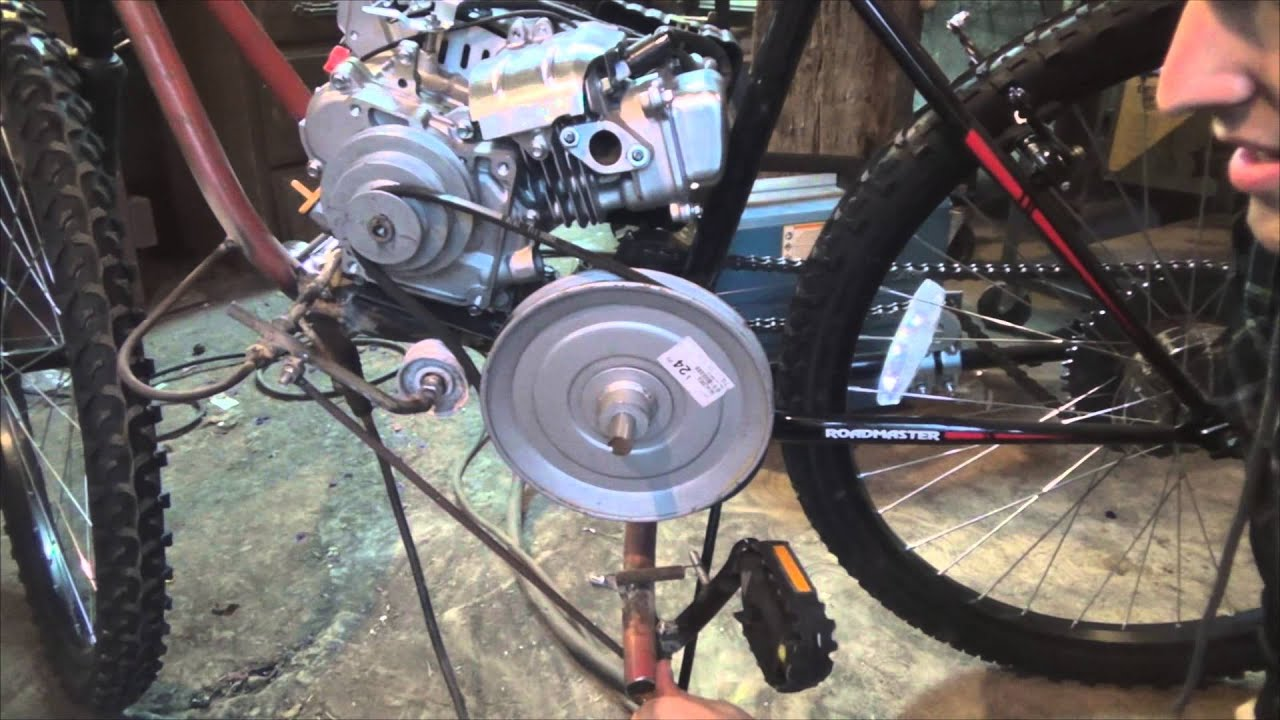 Test ride homemade 79cc motorized bike part 3 7 for How to electric motorize a bicycle