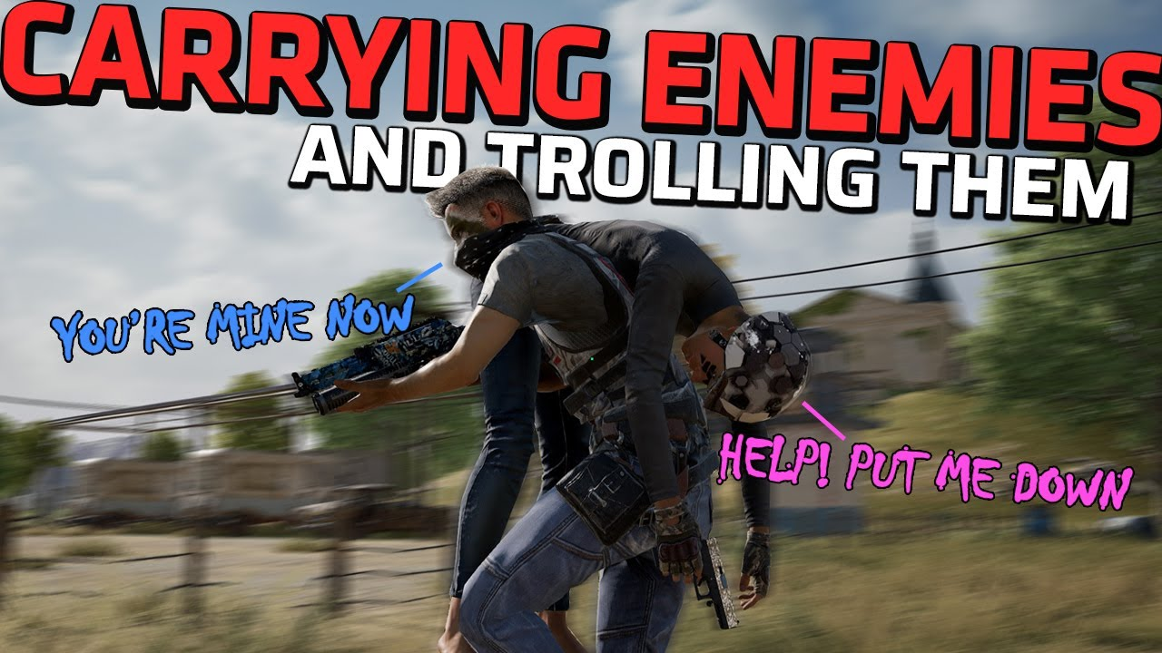 Download CARRYING KNOCKED ENEMIES & TROLLING THEM - Funniest feature of the year - PUBG