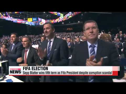 Sepp Blatter wins fifth term as Fifa President despite corruption scandal   블래터,