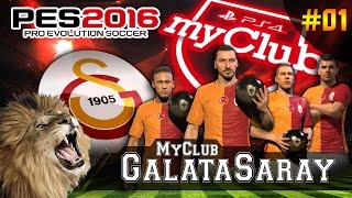 PES 2016 ★ MyClub Galatasaray ★ #01 | Ibrahimović, Neymar, Podolski, Agüero TRANSFER BOMBASI | PS4