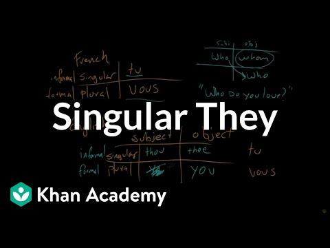 BONUS VIDEO   Singular They   The parts of speech   Grammar   Khan Academy