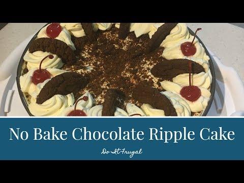 No Bake Chocolate Ripple Cake
