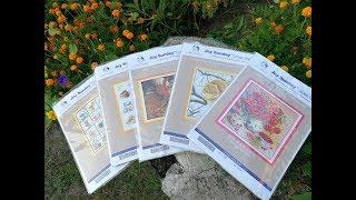 Обзор китайских наборов для вышивки Joy Sunday с Aliexpress канва с рисунком