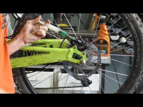 Регулировка и настройка дисковых гидравлических тормозов велосипеда.