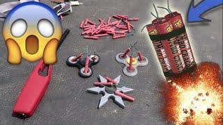 1000 MPH FIDGET SPINNER VS FIREWORKS! (COPS COME!)