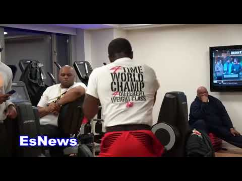 (10 PUNCH COMBOS) Adrien Broner Last Workout Before Fight Night EsNews Boxing