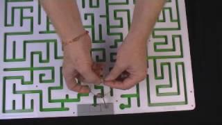 Escape Room Key Maze Puzzle - acrylic– traps a key until maze is solved