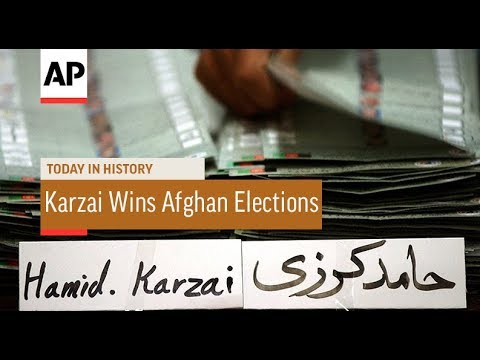 Karzai Wins First Afghan Elections - 2004 | Today In History | 3 Nov 17