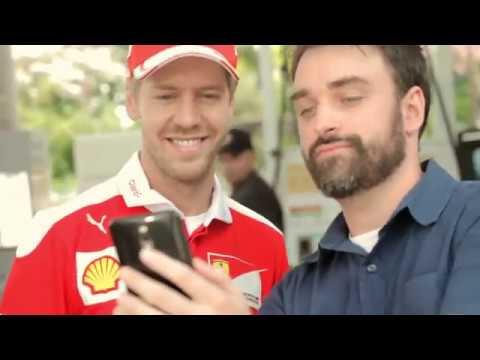 Sebastian Vettel surprises Shell customers at a filling station in Brazil (2016)