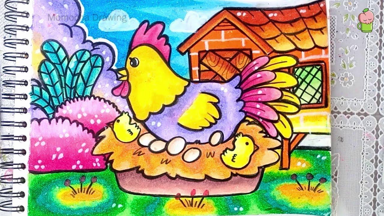 Mewarnai Gambar Ayam Dan Telur