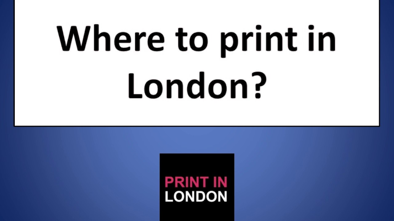 Where to print in London? Printing Service in London | A4 Printing
