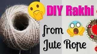 DIY Rakhi/How to make Rakhi from Jute/Best out of Waste/Rakhi making for School Competition #Rakhi