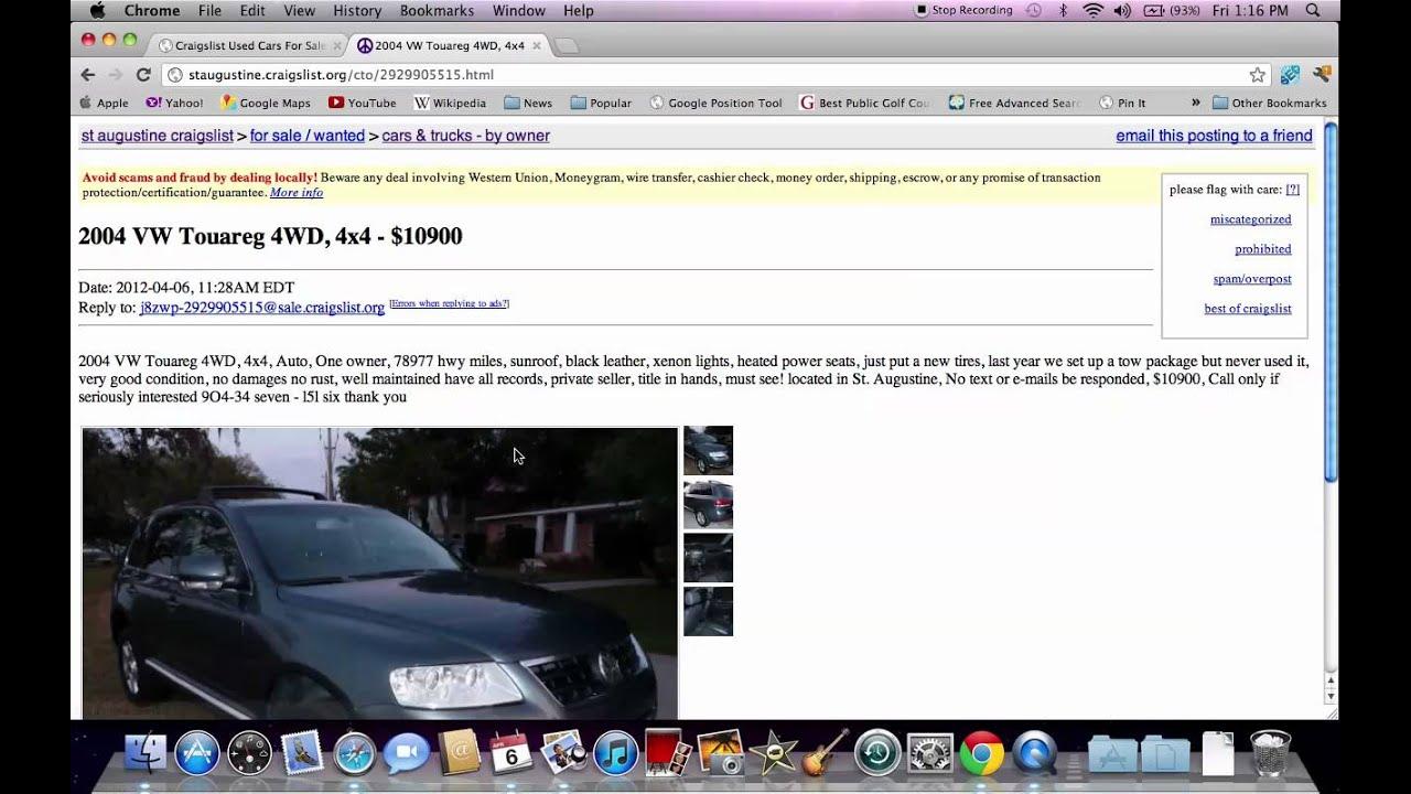 Craigslist St Augustine Florida Older Model Used Cars