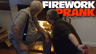 FIREWORKS IN THE HOUSE PRANK!
