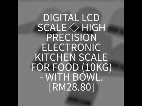 Digital LCD Scale  High Precision Electronic Kitchen Scale For Food (10kg) - With Bowl.