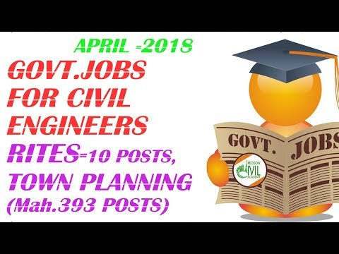 GOVERNMENT VACANCIES FOR CIVIL ENGINEERS