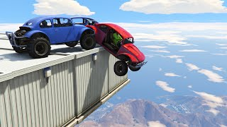 MILE HIGH DEMO DERBY! (GTA 5 Funny Moments)