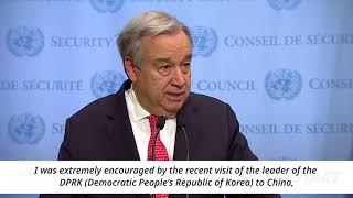 World Awaits 2018 Inter-Korean Summit Antònio Guterres, United Nations Secretary General thumbnail