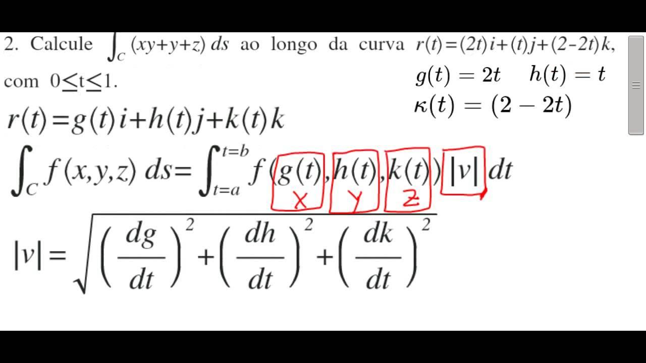 02-integral de linha sobre uma curva