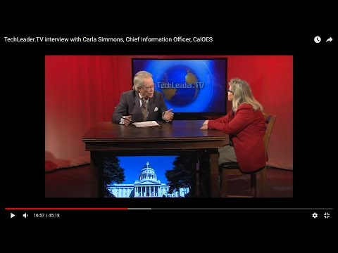 TechLeader.TV interview with Carla Simmons, Chief Information Officer, CalOES