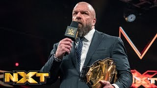 Triple H announces that Tommaso Ciampa has relinquished the NXT Title: WWE NXT, March 20, 2019