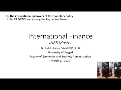 International Finance - III. 14. FX SWAP-lines Among The Key Central Banks