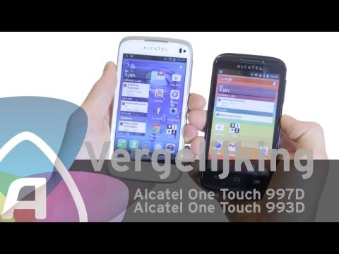 Alcatel One Touch 997D vs Alcatel One Touch 993D review (Dutch)