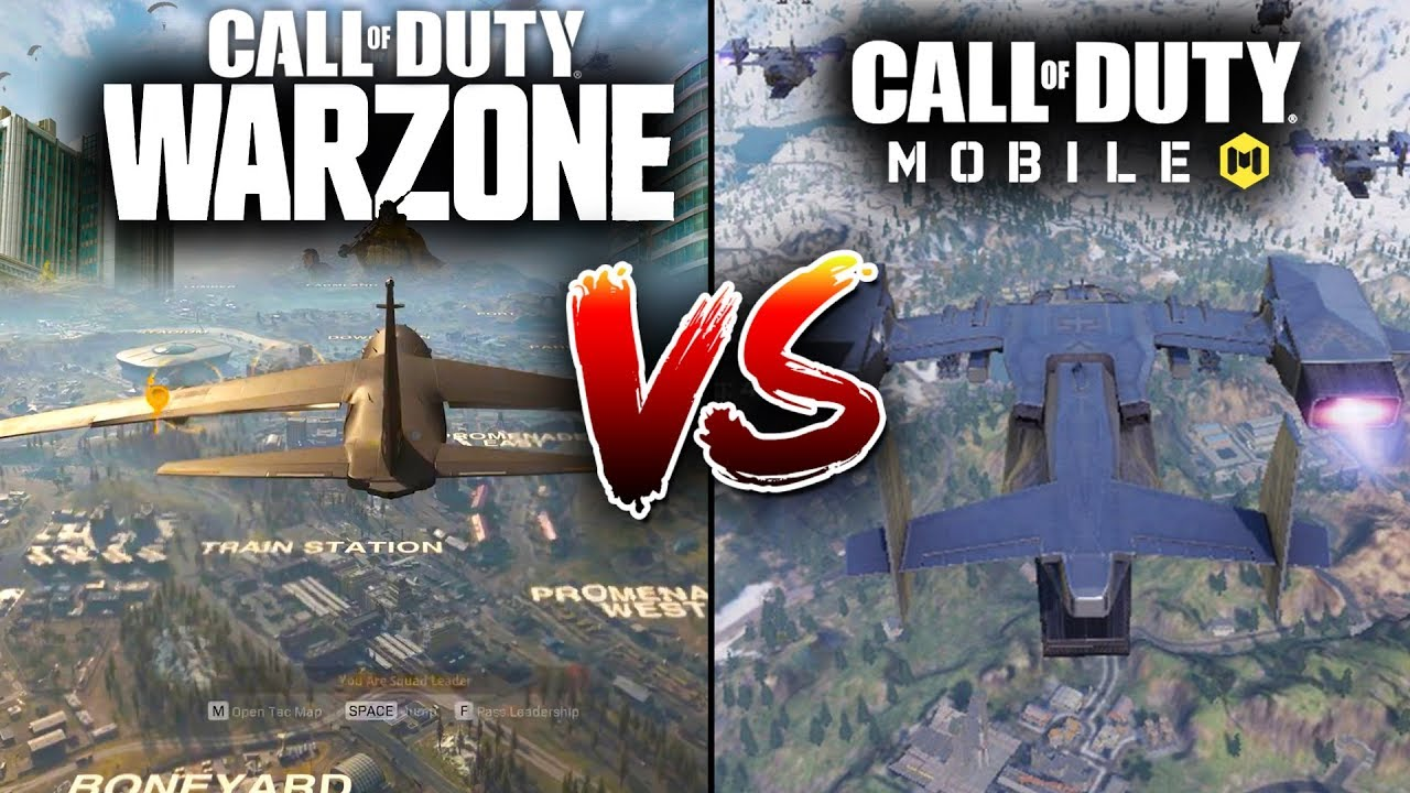 Call Of Duty Mobile Vs Call Of Duty Warzone Comparison Youtube
