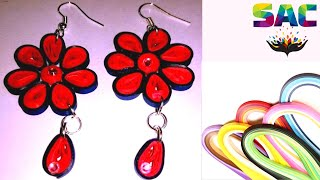 How to make  flower Quilling Earrings Paper Quilling Art  | Quilling Made Easy