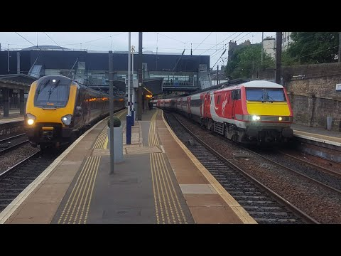 Rush Hour and Evening Trains at Haymarket E-G Line + Fife Circle Line 26/6/17