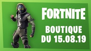FORTNITE BOUTIQUE of August 15, 2019! [Skin Reveche - Red Iron Pick]