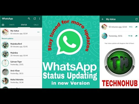 Whatsapp Status Feature in new Updates