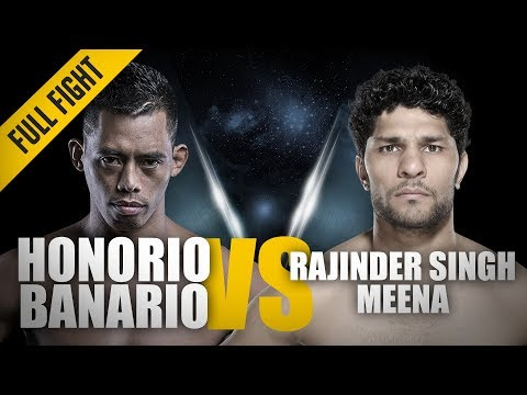 ONE: Full Fight | Honorio Banario vs. Rajinder Singh Meena | Slick Armbar Submission | Dec 2016