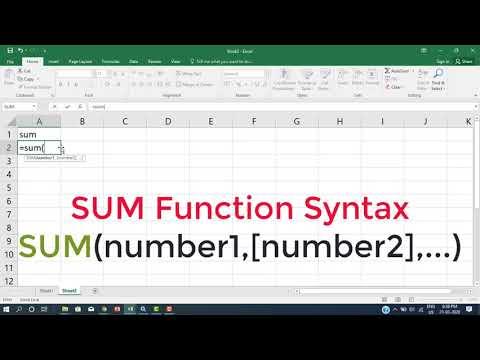 MS Excel Part - 04 SUM Function இனை இப்படியும் பயன்படுத்தலாமா?