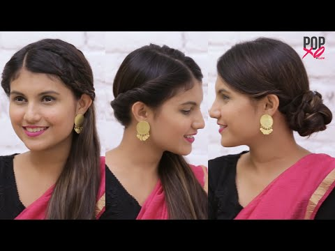 Pretty Hairstyles To Go With Sarees Indian Wedding Hairstyles Popxo